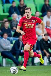 Mats Seuntjens of AZ during the Dutch Eredivisie match between FC Groningen and AZ Alkmaar at Noordlease stadium on October 15, 2017 in Groningen, The Netherlands