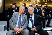 FOOTBALL - MISCS - 22TH UNFP TROPHY AWARD - BOULOGNE BILLANCOURT (FRA) - 19/05/2013 - PHOTO JEAN MARIE HERVIO / REGAMEDIA / ProSportsImages / DPPI - JUST FONTAINE / MICHEL HIDALGO