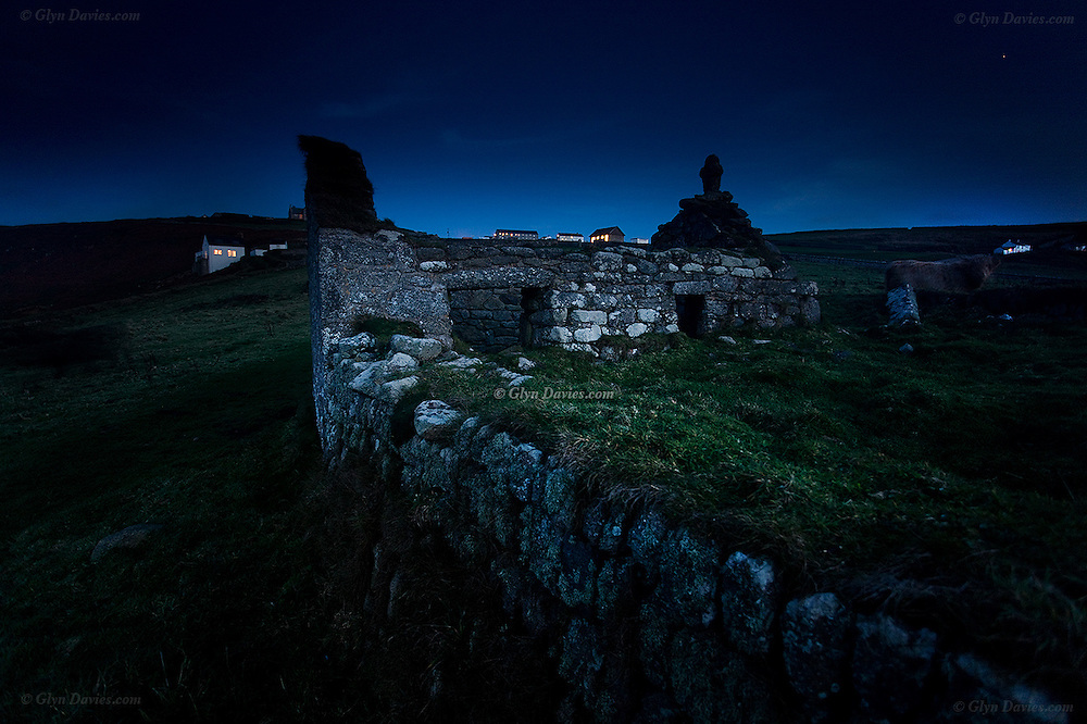 The remains of St. Helen's Oratory, which date back as far as Roman times according to one observer, is a tiny early Christian chapel located in a field at Cape Cornwall.