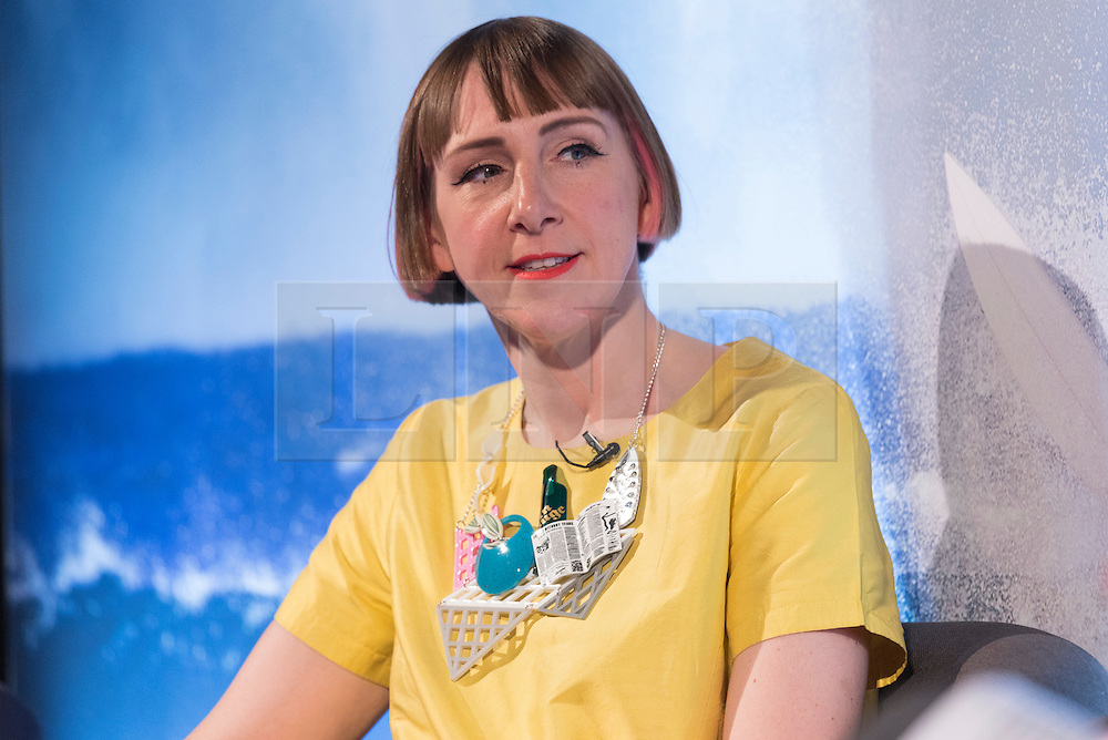 © Licensed to London News Pictures. 18/04/2016. Harriet Vine gives a talk on celebrity talent at Advertising Week Europe 2016. London, UK. Photo credit: Ray Tang/LNP