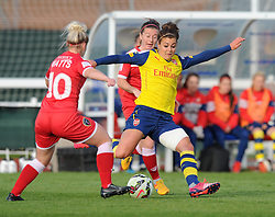 Arsenal Ladies' Jemma Rose in action during the FA Women's Super League match between Bristol Academy Women and Arsenal Ladies FC at Stoke Gifford Stadium on 9 May 2015 in Bristol, England - Photo mandatory by-line: Paul Knight/JMP - Mobile: 07966 386802 - 09/05/2015 - SPORT - Football - Bristol - Stoke Gifford Stadium - Bristol Academy Women v Arsenal Ladies FC - FA Women's Super League