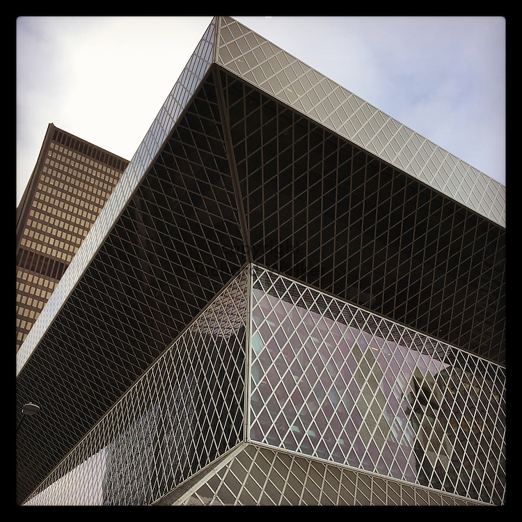 2016 November 28 - Seattle Library in downtown Seattle, WA, USA. Taken/edited with Instagram App for iPhone. By Richard Walker