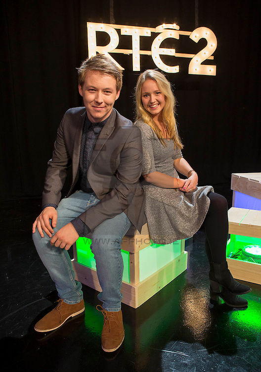 Repro Free: 08/09/2015 <br /> Nick Sheridan and Gill Stedman of News2Day pictured at the RTÉ2 new season launch. Picture Andres Poveda