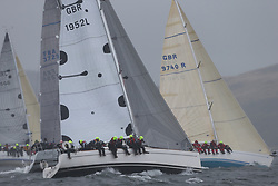 The Clyde Cruising Club's Scottish Series held on Loch Fyne by Tarbert. .Day 4 Racing with a wet Southerly to start clearing up for the last race.