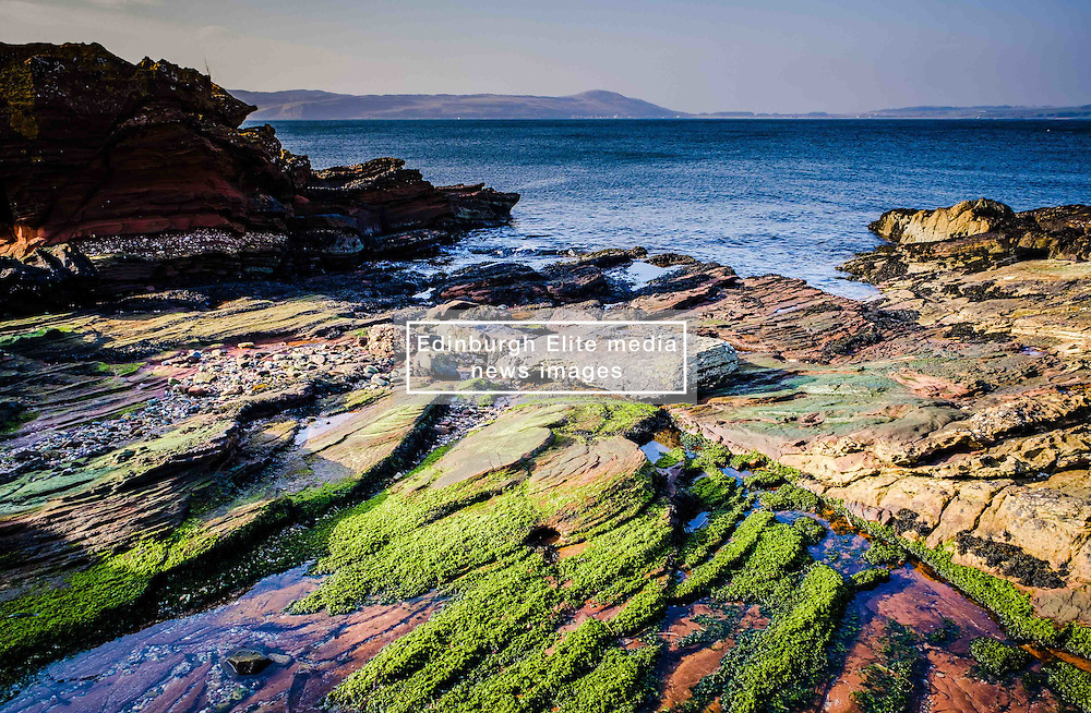 Seascape o the west coast of Great Cumbrae looking towards the Isle of Bute, Scotland<br /> <br /> (c) Andrew Wilson | Edinburgh Elite media