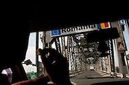 Bojen Hakim an der Freundschaftsbrücke zu Rumänien.