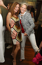 Left to right, EMILY OPPENHEIMER and GENEVIEVE HOBERMAN  at a party to celebrate the publication of 'The Russian House' by Ella Krasner held at De Beers, 50 Old Bond Street, London W1 on 9th June 2005.<br /><br />NON EXCLUSIVE - WORLD RIGHTS