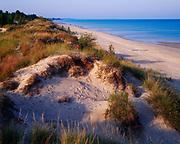 Dunes along the shore of Lake Huron, Pinery Provincial Park, Ontario, Canada.