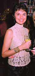 VIRGINIA, LADY WHITE former wife of the late Lord White of Hull, at a party in London on 9th December 1997.MEE 20 WOLO