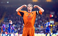 Photo: Chris Ratcliffe.<br />Crystal Palace v Wolverhampton Wanderers. Coca Cola Championship. 10/12/2005.<br />Mark Kennedy, the Wolves captain celebrates Seol's goal