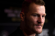 DALLAS, TX - MAY 10:  Stipe Miocic speaks to the media during the UFC 211 Ultimate Media Day at the House of Blues Dallas on May 10, 2017 in Dallas, Texas. (Photo by Cooper Neill/Zuffa LLC/Zuffa LLC via Getty Images) *** Local Caption *** Stipe Miocic