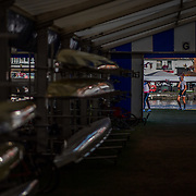 the boat shed<br /> <br /> Racing at the Henley Royal Regatta on The Thames river, Henley on Thames, England. Friday 5 July 2019. © Copyright photo Steve McArthur / www.photosport.nz