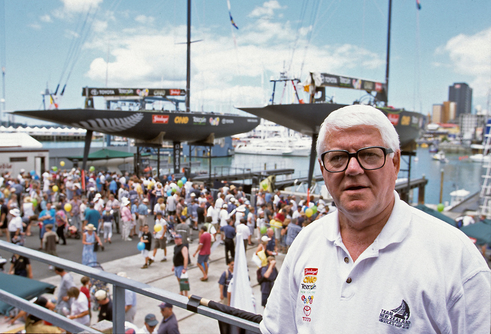 America's Cup 2000, <br /> Auckland, New Zealand<br /> Team New Zealand designer Laurie Davidson
