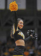WICHITA, KS - NOVEMBER 12:  A Wichita State Shockers cheerleader performs during a game against the Western Kentucky Hilltoppers during the first half on November 12, 2013 at Charles Koch Arena in Wichita, Kansas.  (Photo by Peter Aiken/Getty Images) *** Local Caption ***