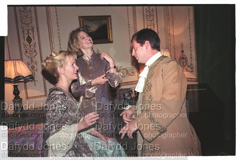 ELISABETH MURDOCH, NICOLA FORNBY, MATHEW FREUD,  Liaisons Dangeruses party. `home House, Portman Sq. London. October 1998.
