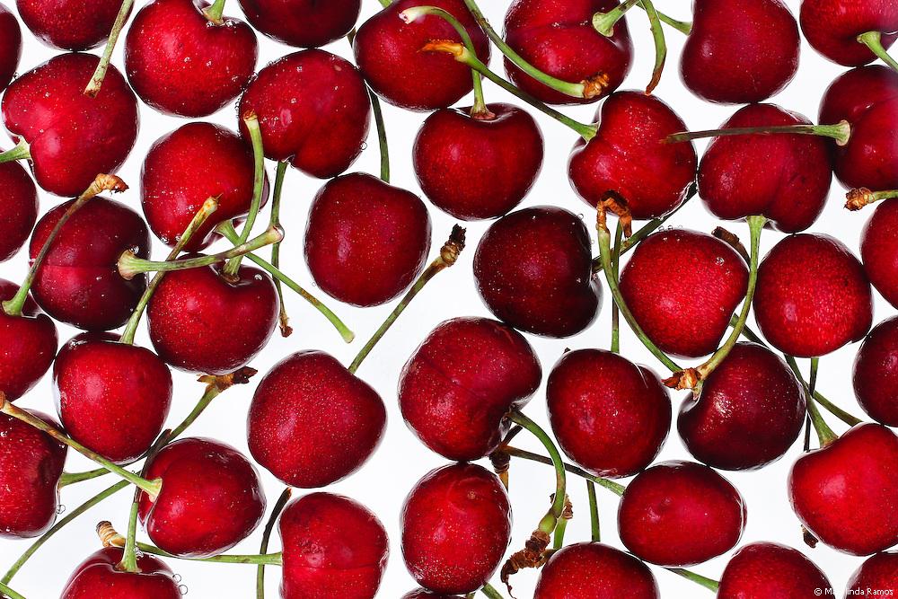Ripe summer cherries.