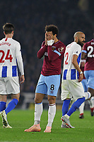 Football - 2018 / 2019 Premier League - Brighton and Hove Albion vs. West Ham United<br /> <br /> Felipe Anderson of West Ham United holds his head after West Ham miss another chance at The Amex Stadium Brighton <br /> <br /> COLORSPORT/SHAUN BOGGUST