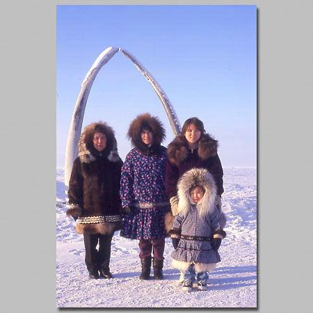 Alaska. Barrow. Four generations of Inupiat natives.
