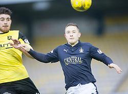 Livingston's Gallagher and Falkirk's John Baird. <br /> Livingston 1 v 1 Falkirk, Scottish Championship game at The Tony Macaroni Arena at 23/1/2016.