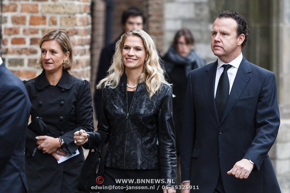 NLD/Delft/20131102 - Herdenkingsdienst voor de overleden prins Friso, Emily Bremers en partner Roderick van der Wijck