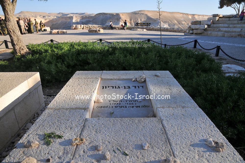 Israel, Negev, Kibbutz Sde Boker, the grave of David Ben Gurion