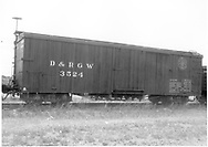Side view of box car #3524 at Antonito.<br />   Taken by McCarter, M. D. - 7/4/1979<br /> Same image as RD054-034.