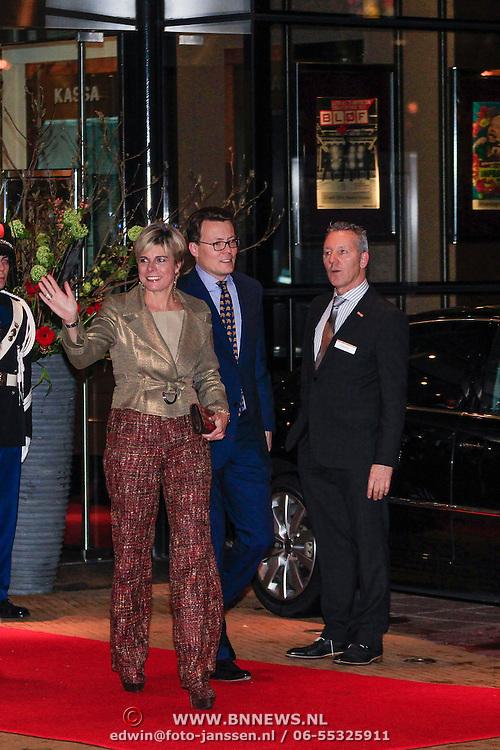 NLD/Utrecht/20130201 - Vertrek 75ste verjaardagfeest  Koninging Beatrix, Prinses Laurentien Brinkhorst en partner Constantijn