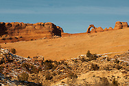 Delicate Arch, Arches National Park, Utah, winter