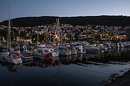 One of many harbours in Bergen, Norway. The city has a population of around 270,000 people and sits on the south-western coast of the country.