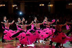 LONDON, June 2, 2011  Members of the Beijing Dance Academy perform during the Ballroom Formation competition of the Blackpool Dance Festival in Blackpool, Britain, June 1, 2011. The annual Blackpool Dance Festival includes one of the most prestigious international standard dancing competition of the world. (Credit Image: © Xinhua via ZUMA Wire)