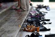 Shoes outside a shrine Thailand, Bangkok,