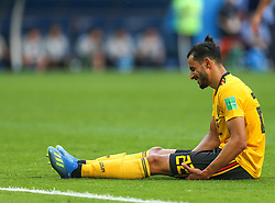 July 14, 2018 - Saint Petersburg, Russia - Nacer Chadli of the Belgium national football team reacts during the 2018 FIFA World Cup Russia 3rd Place Playoff match between Belgium and England at Saint Petersburg Stadium on July 14, 2018 in St. Petersburg, Russia. (Credit Image: © Igor Russak/NurPhoto via ZUMA Press)