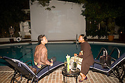 AMY KEITH; MIKKI TAYLOR. Rodarte Poolside party to show their latest collection. Hosted by Kate and Laura Muleavy, Alex de Betak and Katherine Ross.  Chateau Marmont. West  Sunset  Boulevard. Los Angeles. 21 February 2009 *** Local Caption *** -DO NOT ARCHIVE -Copyright Photograph by Dafydd Jones. 248 Clapham Rd. London SW9 0PZ. Tel 0207 820 0771. www.dafjones.com<br /> AMY KEITH; MIKKI TAYLOR. Rodarte Poolside party to show their latest collection. Hosted by Kate and Laura Muleavy, Alex de Betak and Katherine Ross.  Chateau Marmont. West  Sunset  Boulevard. Los Angeles. 21 February 2009