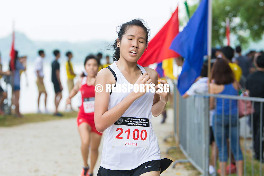 Ng Qi Hui of Victoria Junior College came in seventh with a timing of 15:47.03 in the A Division Girls Category at the 57th National Schools Cross Country Championships. (Photo © Jerald Ang/Red Sports)