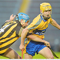 15 September 2012; Colm Galvin, Clare, in action against Brian Kennedy, Kilkenny. Bord Gáis Energy GAA Hurling Under 21 All-Ireland 'A' Championship Final, Clare v Kilkenny, Semple Stadium, Thurles, Co. Tipperary. Picture credit: Diarmuid Greene / SPORTSFILE