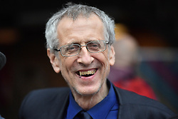© Licensed to London News Pictures. 24/09/2016. Liverpool, UK.  PIERS CORBYN, brother of Jeremy Corbyn, seen at a Momentum rally following an announcement for the leader of the Labour party. Owen Smith MP challenged the party leadership of Jeremy Corbyn following months of party infighting. The result comes a day before the Labour Party starts it's annual conference, also held in Liverpool. Photo credit: Ben Cawthra/LNP