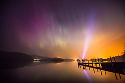 File photo dated 18/03/15 of the Northern Lights, or Aurora Borealis, shining over Derwentwater, near Keswick in the Lake District, as the Lake District has been designated as a World Heritage Site, Unesco has said.