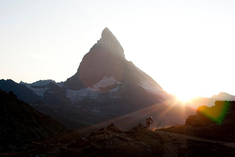 Rider: René Wildhaber.Location: Zermatt (Switzerland)