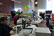 Moscow, Russia, 26/03/2012..Staff at work in the city traffic monitoring area inside the Silicon Valley style headquarters of Russian internet search company Yandex.