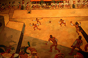 MEXICO, MEXICO CITY, MUSEUM Toltec; ballcourt and game at Tula