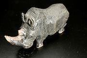African Art - rhinoceros stone sculpture