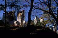New York. Central park and skyline  Manhatan, New York  Usa /  Central park  and skyline  Manhatan, New York  USa