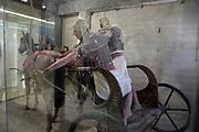 Chariot exhibit in the interior of the Yad La-Shiryon (The Armored Corps Memorial Site and Museum at Latrun) Israel's armored corps Museum and memorial site