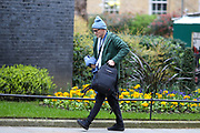 March 18, 2020, London, England, United Kingdom: Prime Minister Boris Johnson's key adviser Dominic Cummings, who has suggested the NHS could provide funding to allow people to select genetic traits such as intelligence for babies, arrived in Ten Downing Street in London on Wednesday, Mar 18, 2020. (Credit Image: © Vedat Xhymshiti/ZUMA Wire)