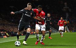 Manchester United's Marcus Rashford (right) and CSKA Moscow's Viktor Vasin battle for the ball