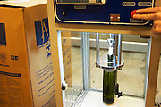 a cork testing machine to measure the required force to pull the cork Bodega Del Fin Del Mundo - The End of the World - Neuquen, Patagonia, Argentina, South America