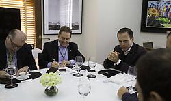July 21, 2017 - O prefeito João Doria se reuniu para almoço com o presidente do BNDES Paulo Rabello, na tarde desta sexta-feira (21). Na sede da prefeitura, em São Paulo. (Credit Image: © Bruno Rocha/Fotoarena via ZUMA Press)