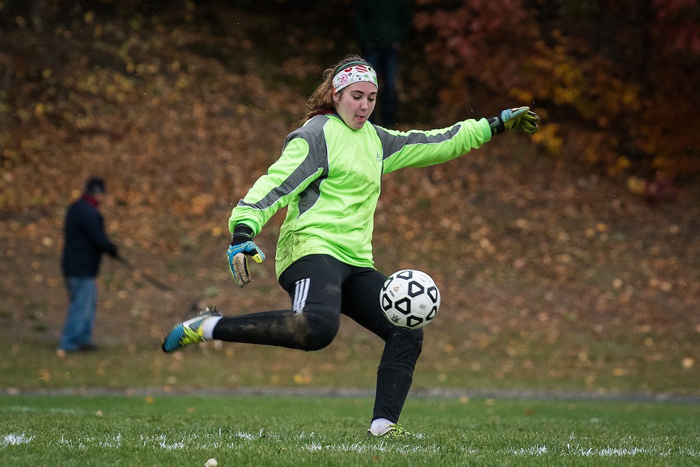 The girls first round high school playoff game between BFA St. Albans and the Mount Mansfield Cougars at MMU High School on Wednesday afternoon October 26, 2016 in Jericho, Vermont.