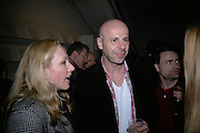 Catharine Patha and Philippe Parreno. Philippe Parreno  exhibition opening at Haunch of Venison. After party drinks at Sketch. 4 April 2007.  -DO NOT ARCHIVE-© Copyright Photograph by Dafydd Jones. 248 Clapham Rd. London SW9 0PZ. Tel 0207 820 0771. www.dafjones.com.