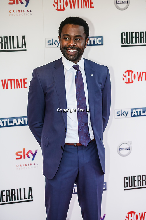 London,England,UK. 6th April, 2017. Brandon Scott attends the UK premiere of Sky Original Production Guerrilla at The Curzon,Bloomsbury,London,UK. by See Li